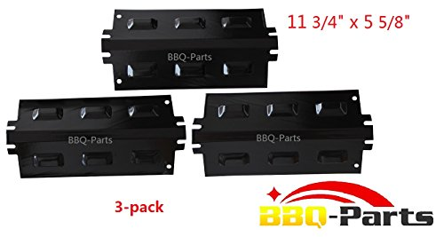 Hongso PPD631 (3-pack) Replacement Porcelain Steel Heat Plate, Heat Shield, Heat Tent, Burner Cover, Vaporizor Bar, and Flavorizer Bar for Charbroil, Kenmore and Others (11 3/4 (Kenmore 3 Burner Patio Grill compare prices)