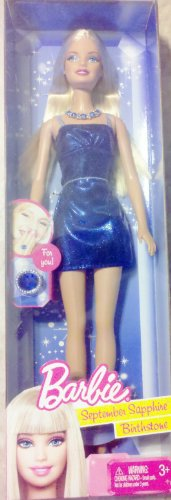 412ZoyJboAL Cheap Price Birthstone Barbie Doll September Sapphire Blue Birthstone   For Birthdays in September
