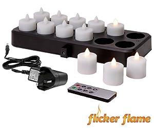 12 wiederaufladbare teelichter mit fernbedienung amazon. Black Bedroom Furniture Sets. Home Design Ideas