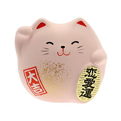 Kotobuki Maneki Neko Charm Renai-un Collectible Figurine, Love, Pink