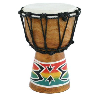 X8 Drums X8-Dj-Mini-Spk Mini Djembe Drum With Spark Painted Design