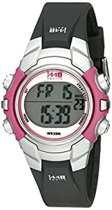 Timex Women's T5J151 1440 Sports Digital Black/Pink Resin Strap Watch