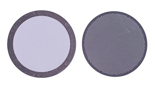 Simple Life Cycle Reusable AeroPress Filter Disc- Premium Stainless Steel (2, Stainless Steel Silver & Photo Etched)