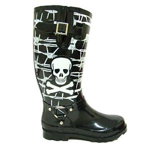 Black Skull Festival Wellies Wellington Boots