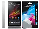 TECHGEAR� **PACK OF 3** CLEAR LCD Screen Protector Guards with Cleaning Cloth For SONY XPERIA SP / M35h / C5302