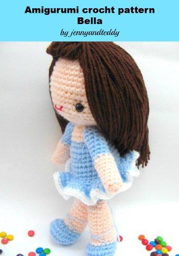 amigurumi crochet pattern ballerina girl Bella