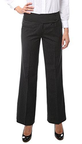18 Womens 2789 Black Pinstripe Dress Pants (Women Pinstripe Pants compare prices)