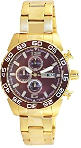 Men Invicta 13676 Specialty Specialty Chronograph Gold Tone Stainless Steel Case