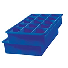 Tovolo Perfect Cube Silicone Ice Cube Tray, Set of 2