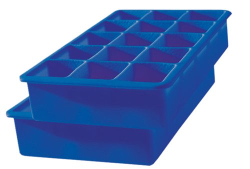 Tovolo Perfect Cube Ice Tray, Set of 2, Dark Blue