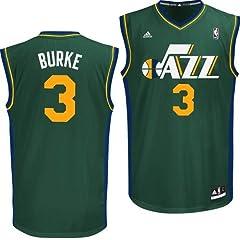 Utah Jazz Adidas NBA Trey Burke #3 Replica Jersey (Green) by adidas