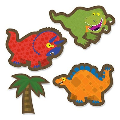 Dinosaur - DIY Shaped Party Cut-Outs - 24 Count