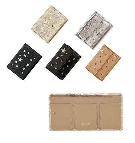 ジミーチュウ JIMMY CHOO 財布 NEMO-ネモ- 三つ折り財布[スタースタッズ・コインケース・財布] Black/Multi  [並行輸入品]