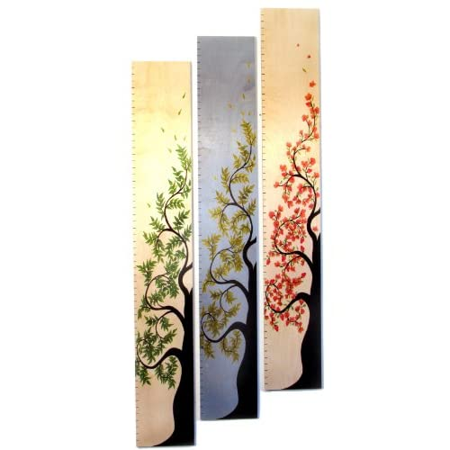 Tall Cherry Blossom Tree of Life Wooden Growth Chart Baby