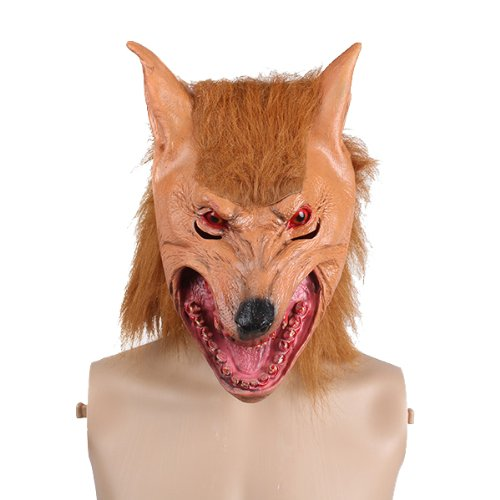 Generic Vivid Wolf Head Mask Latex Animal Toy For Costume Prop Party Halloween