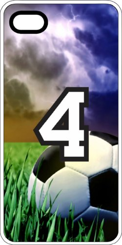 Soccer Sports Fan Player Number 04 Clear Rubber Decorative Iphone 5/5S Case