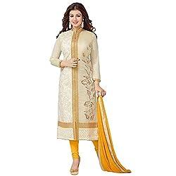 Cenizas AYESHA_ C1469 Beige Colour Semi-Stiched Salwar suits Material