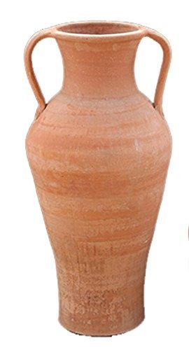 Traditionelle-Cretan-Terrakotta-Amphore-handgefertigt-mit-Griffen-Laina-Ekklisia-gro-100-cm-x-55-cm