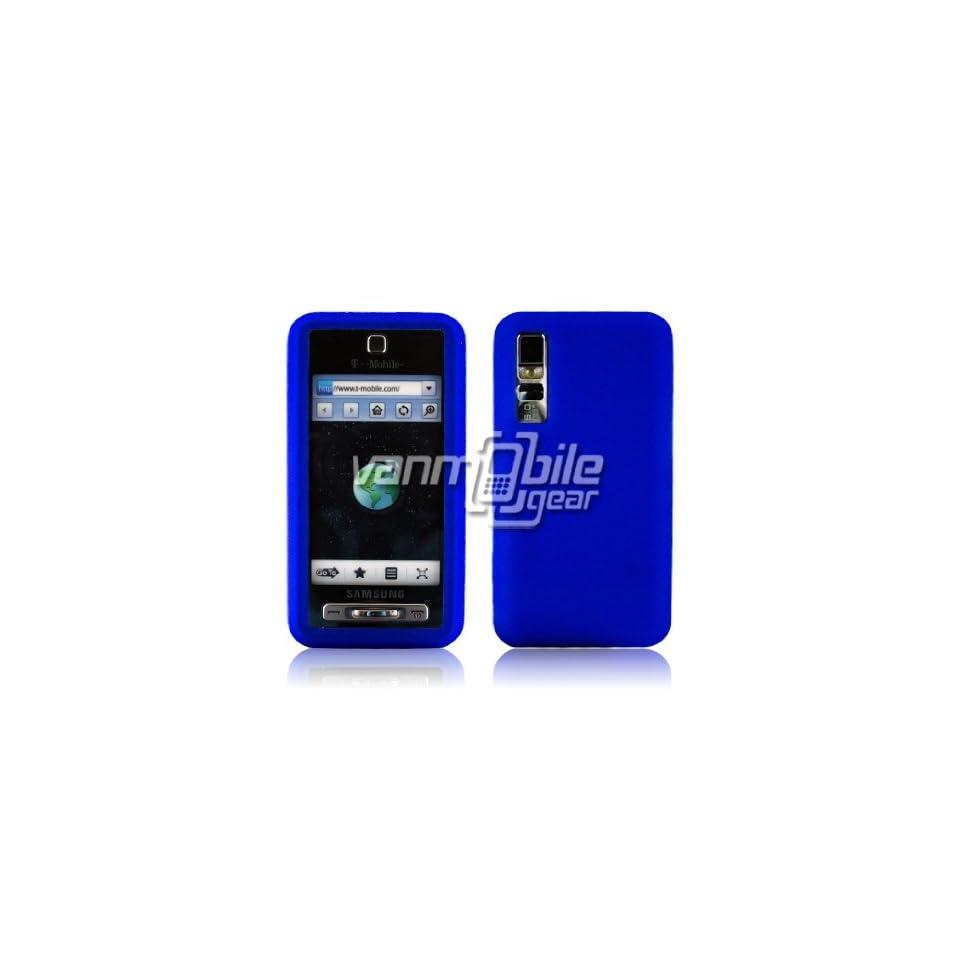 VMG For Samsung Behold T919 (Original, 1st Gen, Older Model) Soft Gel Silicone Skin Case Cover   Blue Cell Phones & Accessories