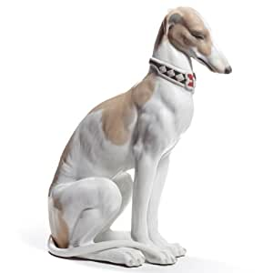Amazon.com: Lladro Porcelain Figurine Pensive Greyhound: Home