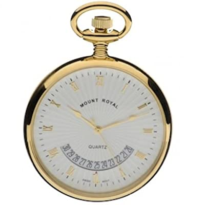 Mount Royal Pocket Watch B30p Gold Plated Open Face