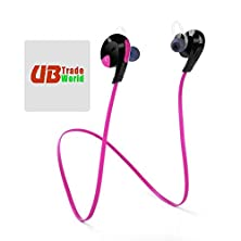 buy Genuine Bluetooth H7 Wireless Headset, Headphone, W/ Mic Lightweight Sweatproof, Sport Handsfree, Gym Running For Allview X2 Soul Mini ++ Free Microfiber Sticky Screen Cleaner, Pink