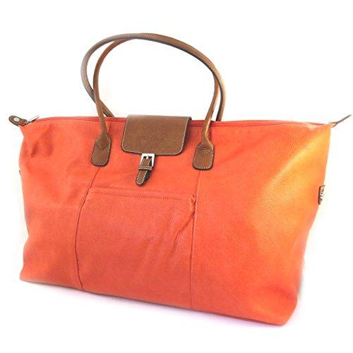 Travel bag 'Hexagona'arancione (60x35x20 cm).