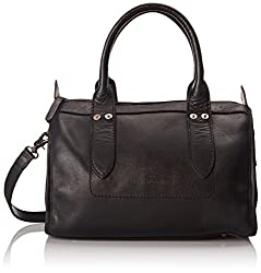 FRYE Amy Zip Satchel Bag, Black, One Size