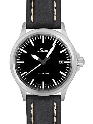 [ジン] SINN 腕時計 model556M SS/レザー (白ステッチ) メンズ 新品 [並行輸入品]
