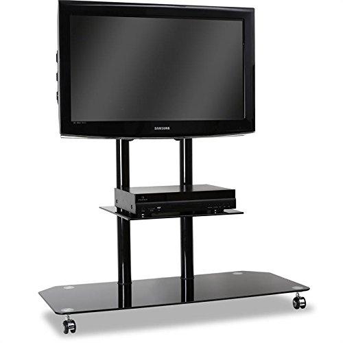 Porta TV Silver nero opaco // lucido nero con LED