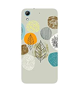 Abstract Leaves Grey HTC Desire 826 Case