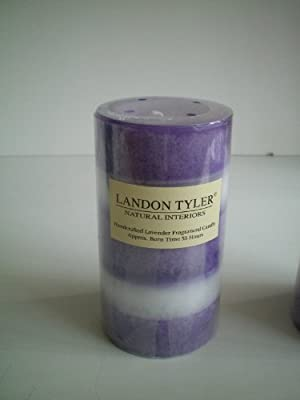 Tall Standing Lilac And White Lavender Scented Candle 638826