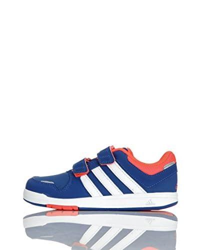 adidas Sneaker Lk Trainer 6 Cf K [Blu/Bianco/Arancione]