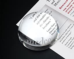 3 1/8 Inch Two in One Clear Crystal Magnifier or Paperweight