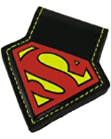DC Comics SUPERMAN S Logo Magnet Black Leather MONEY CLIP