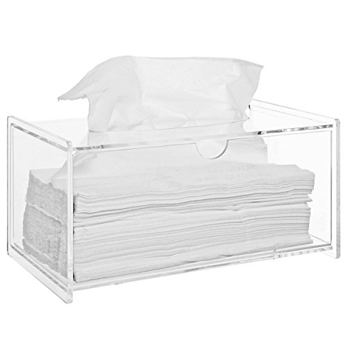 Modern Clear Acrylic Bathroom Facial Tissue Dispenser Box Cover / Decorative Napkin Holder - MyGift® Home (Tissue Dispenser compare prices)