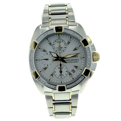 Seiko Women's SNDZ38 Two Tone Stainless Steel Analog with Mother-Of-Pearl Dial Watch