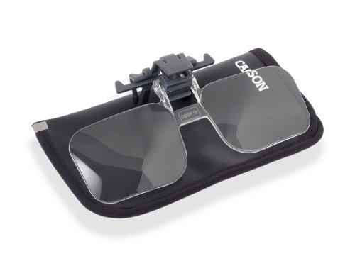 Carson Clip and Flip 2x Power Magnifying Lens +4.00 Diopters (OD-14)
