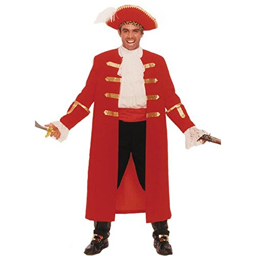 Adult Pirate Captain Morgan Costume (Size: Standard 42-46)