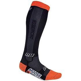 Moose Racing M1 Men's Motocross Motorcycle Socks - Color: Black/Orange, Size: Large/X-Large