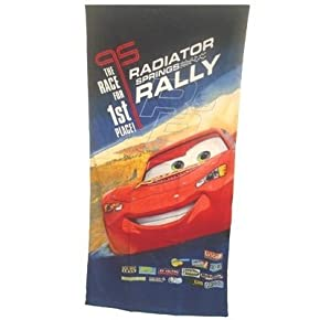 Kids/Childrens Official Disney Cars 100% cotton beach towel