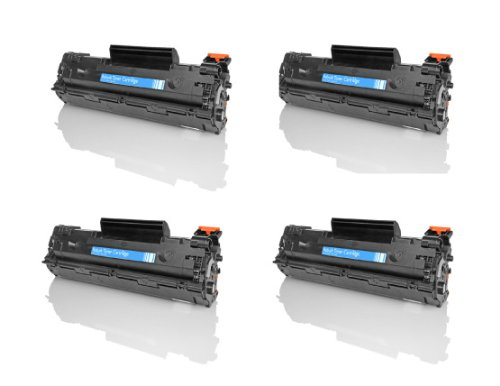 GREEN APPLE BRAND HP LASERJET P1102W TONER CARTRIDGES, 4 PACK