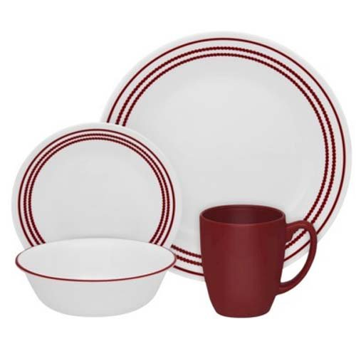 Corelle Livingware Ruby Red 16-pc Dinnerware Set (Ruby Red Corelle compare prices)