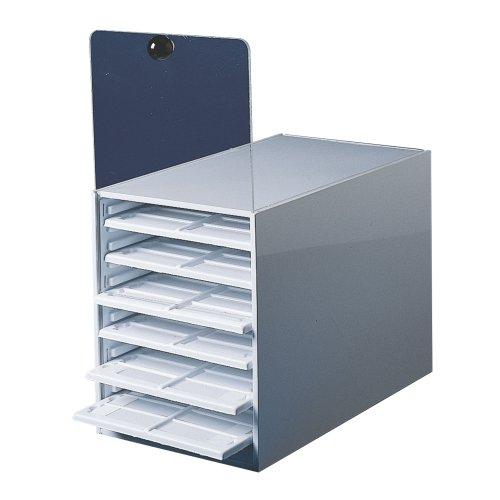 "Bel-Art Scienceware 445830000 Polypropylene Microscope Slide Tray Cabinet, 14"" Length X 8-3/16 Width X 10"" Height"