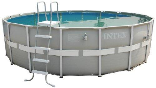 Aufstellpool Frame Pool Set Ultra Rondo, Grau, Ø 488 x 122 cm