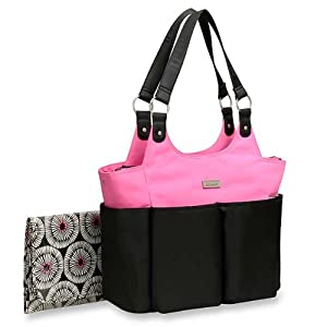 Carter's Everyday Tote Bag, Black/Pink