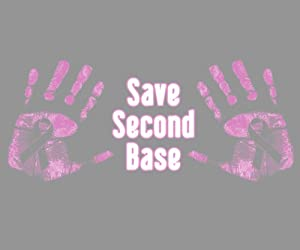 Save Second Base Women's Breast Cancer Awareness T-Shirt