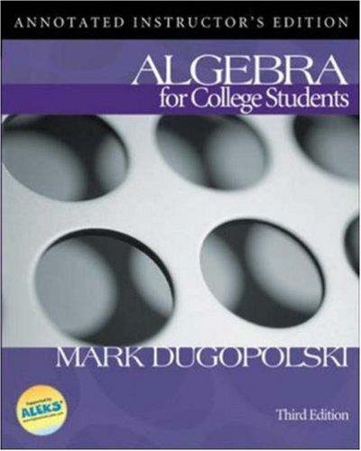 Algebra for College Students w/ MathZone