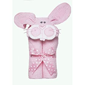 Mullins Square Pink Bunny Tubbie Hooded Towel