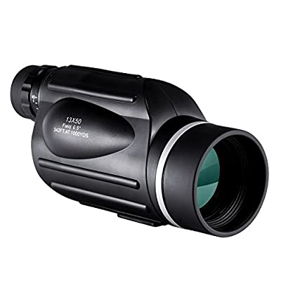 BNISE Explorer 13X50 High Powered Monocular GOMU - Bright and Clear Range of View - Simple Hand Focus - Waterproof, Fogproof - For Bird Watching, or Wildlife - with Reticle - Daytime Use from BNISE